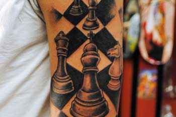 tattoo of a chess board