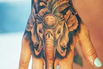 tattoo of lucky elephant