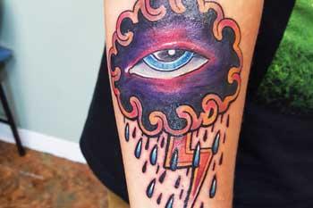 Tattoo of eye in the sky