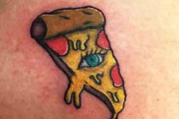 Tattoo of pizza