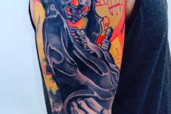 Tattoo of a Grim Reaper