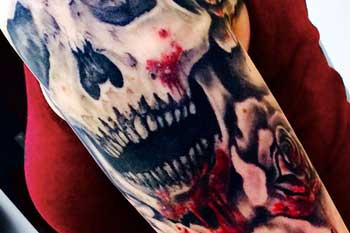 Tattoo of a skull