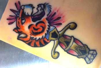 Tiger dagger ink on paper